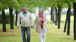 Romantic Seniors stock footage