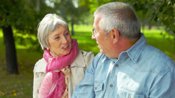 Seniors Outdoors stock footage