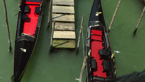 Venice Gondola Detail 01 stock footage