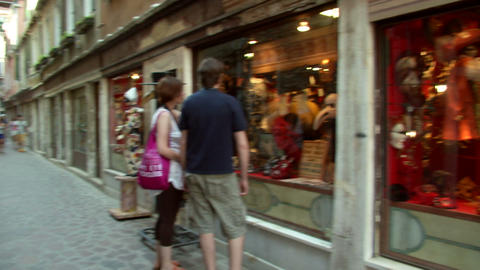 Venice Shopping 01 E stock footage