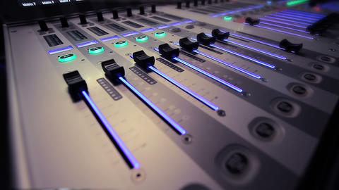 Studio Mixer stock footage