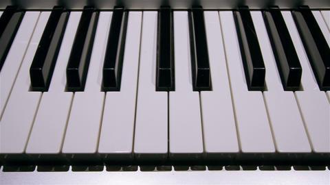 Piano keyboard Footage