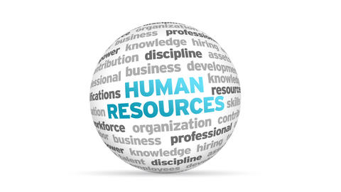 Human Resources Word Sphere Animation