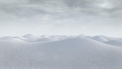 Snowy Hills Journey Animation