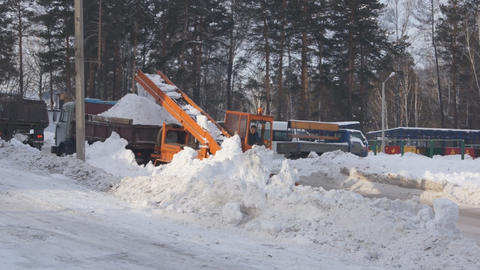 Winter Snow Removal 01 Footage