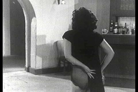 Exotic Rose La Rose performs a burlesque stripteas Footage