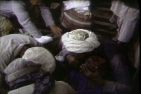 Life in refugee camps in Afghanistan in 1983 Footage