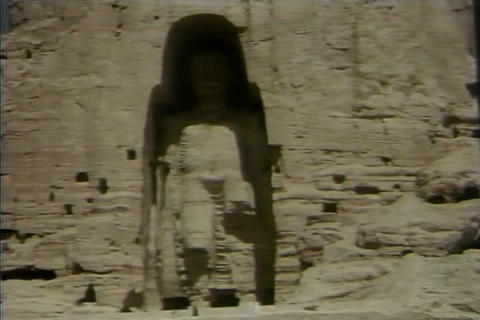 Bamiyan Buddhas in Afghanistan in the 1980s Footage