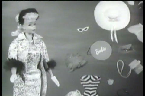 A commercial for Barbie Dolls from the 1950s Footage