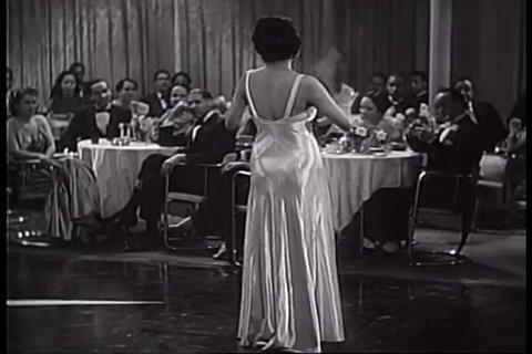 Lena Horne sings a song onstage in 1938 Footage