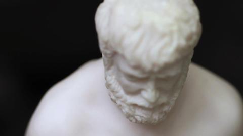 Human figure sculpture Footage