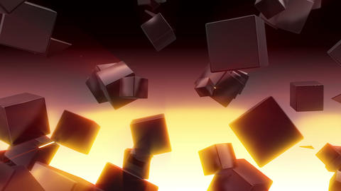 Cube Triangle Scenes HD Animation