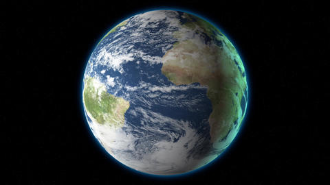 Earth In Space 3 D stock footage