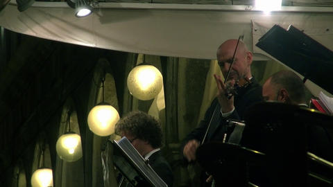 Orchestra playing on St Mark's Square in Venice Footage