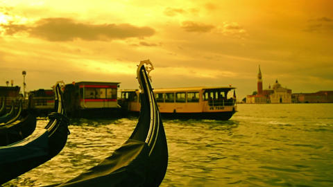 "Venice city in Italy, gondola and ""Canal Grande"" Footage"