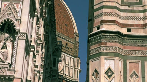 Piazza Del Duomo, The Cathedral Church Of Florence stock footage