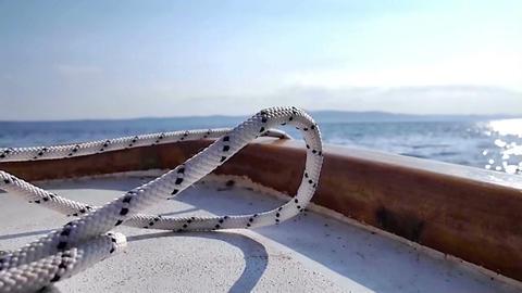 Boat on the sea Footage