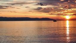 Sunset over sea timelapse Filmmaterial