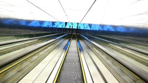 moving elevator with bridge light,modern building inside Animation