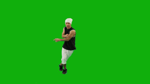 Guy Dancing Hip-Hop Green Screen 影片素材