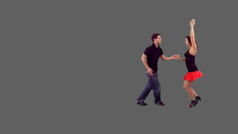 Couple Dancing Salsa stock footage