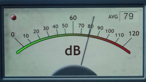 Electronic Decibel Meter Footage