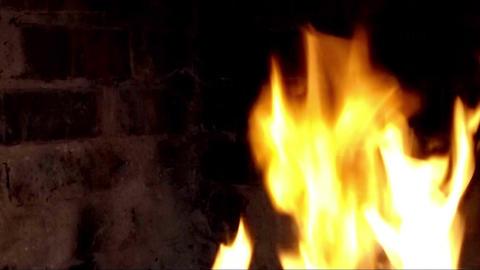 Fire on dark background Footage