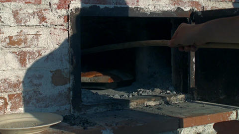 wood burning oven Footage