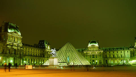 The Louvre Is The Most Visited Art Museum In The W stock footage