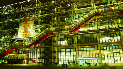 The Centre Pompidou, built in 1977 is a very popul Footage