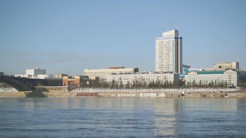 Krasnoyarsk Yenisei Embankment 03 Footage