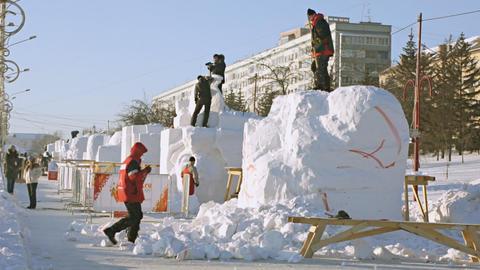 Krasnoyarsk Snow Festival 01 Footage