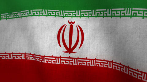 Iran Flag Background Textured (Loop-able) Animation