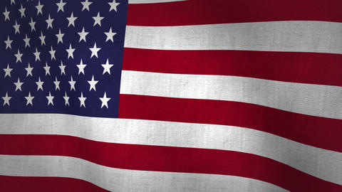 USA Flag Background Textured (Loop-able) Animation