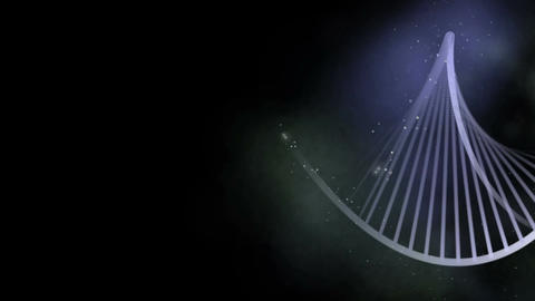 DNA Strand Stylized Concept stock footage