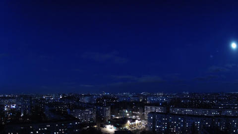 City Evening. Timelapse stock footage