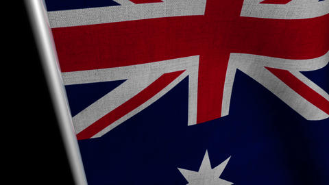 Australia Flag transition LtoR with Alpha/Matte Animation