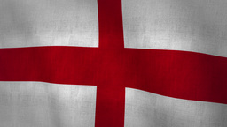 England Flag Background Textured (Loop-able) Animation