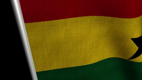 Ghana Flag transition LtoR with Alpha/Matte Animation