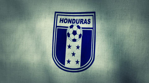 Honduras National Football Team Flag (Loopable) stock footage