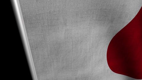 Japan Flag transition LtoR with Alpha/Matte Animation