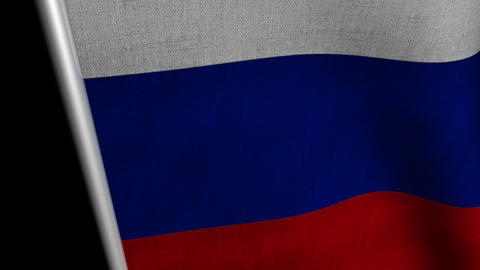 Russia Flag transition LtoR with Alpha/Matte Animation