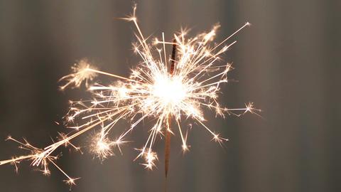 sparkler burning Footage
