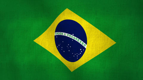 Brazil Flag Textured World Cup 2014 (Loop-able) Animation