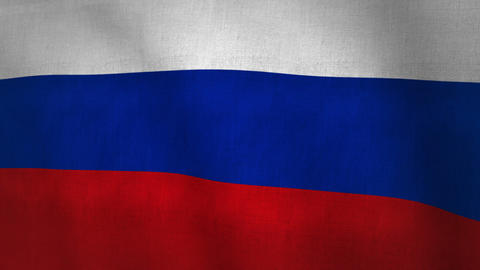 Russia Flag Background Textured (Loop-able) Animation