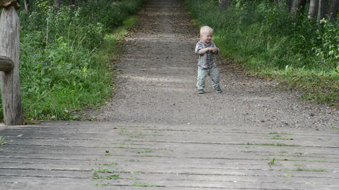 First steps of a little boy Footage