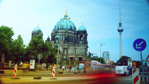 Berlin Cathedral (German: Berliner Dom), time laps Live Action