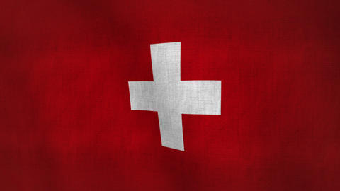 Switzerland Flag Background Textured (Loop-able) Animation