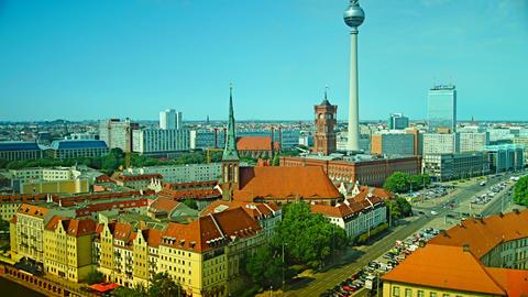 Berlin Skyline City Time lapse Footage