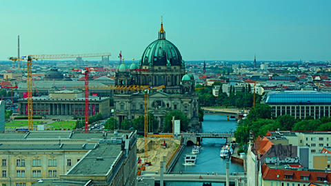 Berlin Skyline City Time Lapse stock footage